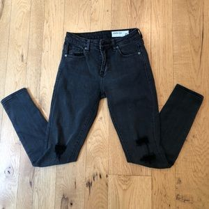 Pistola charcoal grey skinny jeans